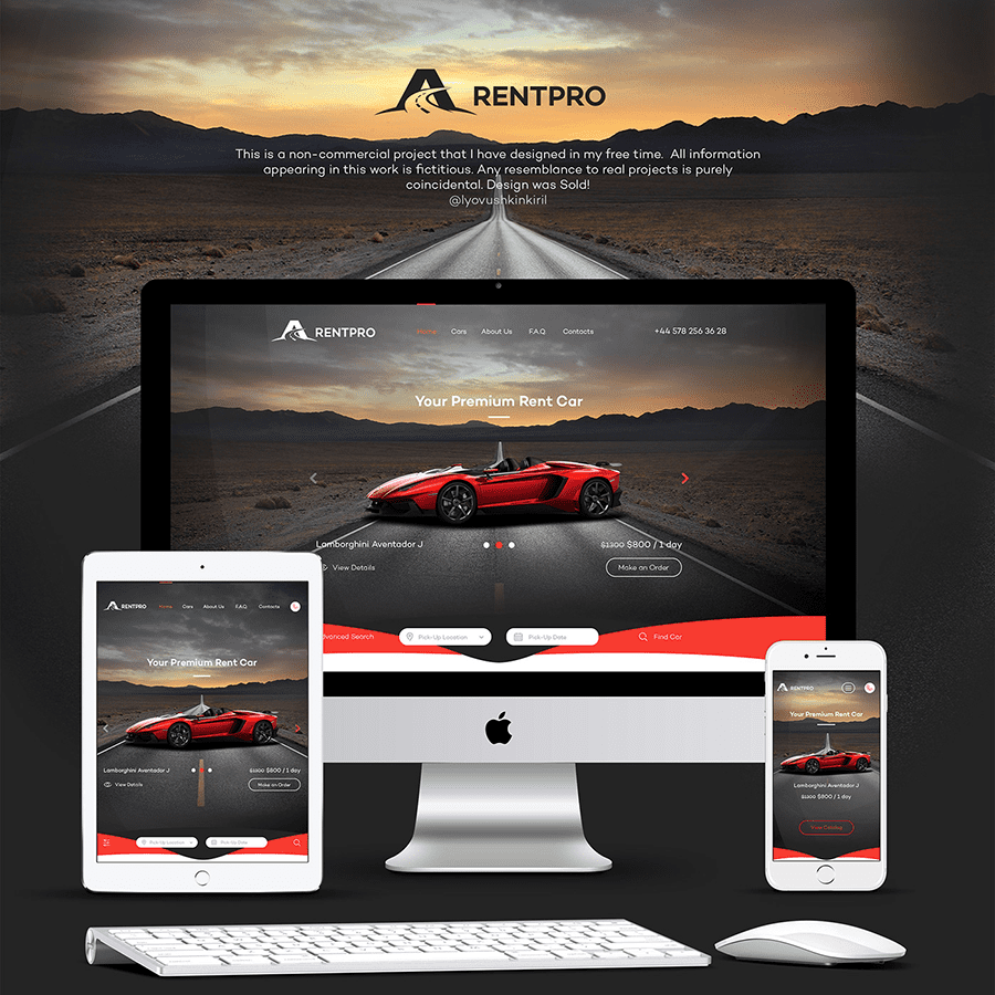 rent4 - RentPro - Car Dealer's Website